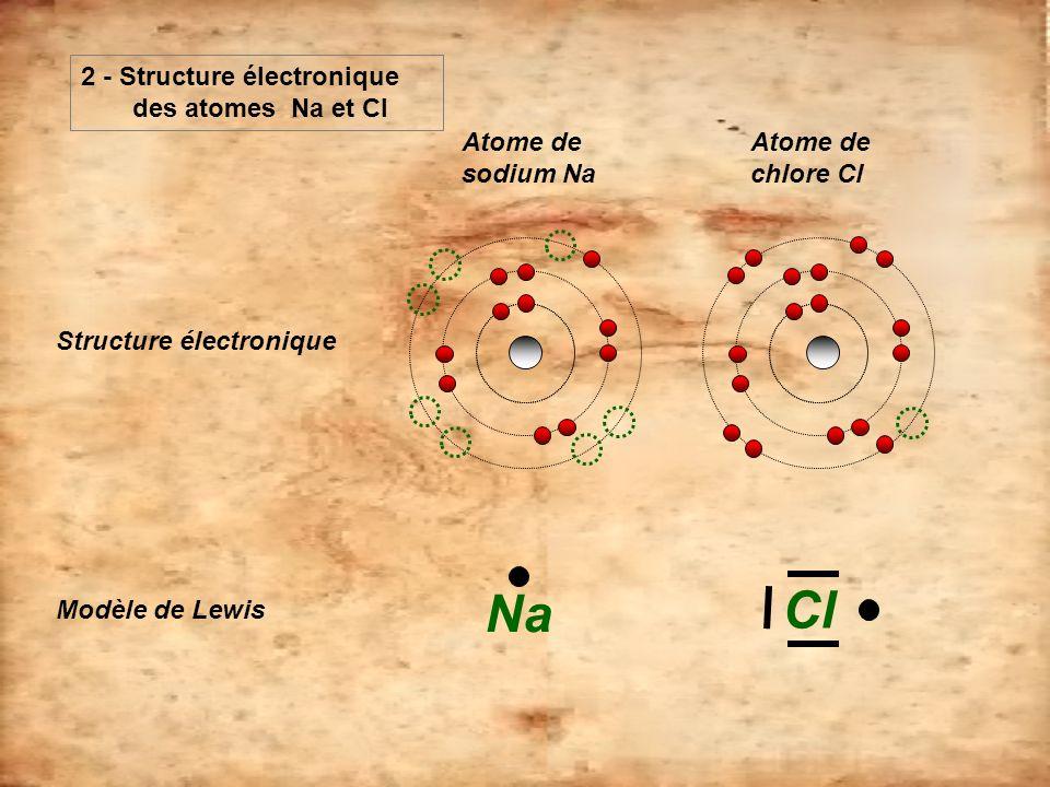 Cl Na 2 - Structure électronique des atomes Na et Cl
