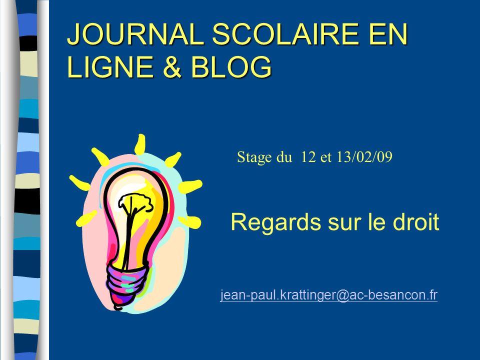 JOURNAL SCOLAIRE EN LIGNE & BLOG