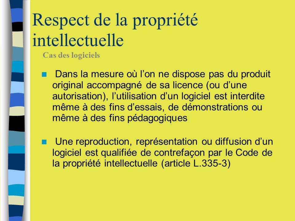 Respect de la propriété intellectuelle