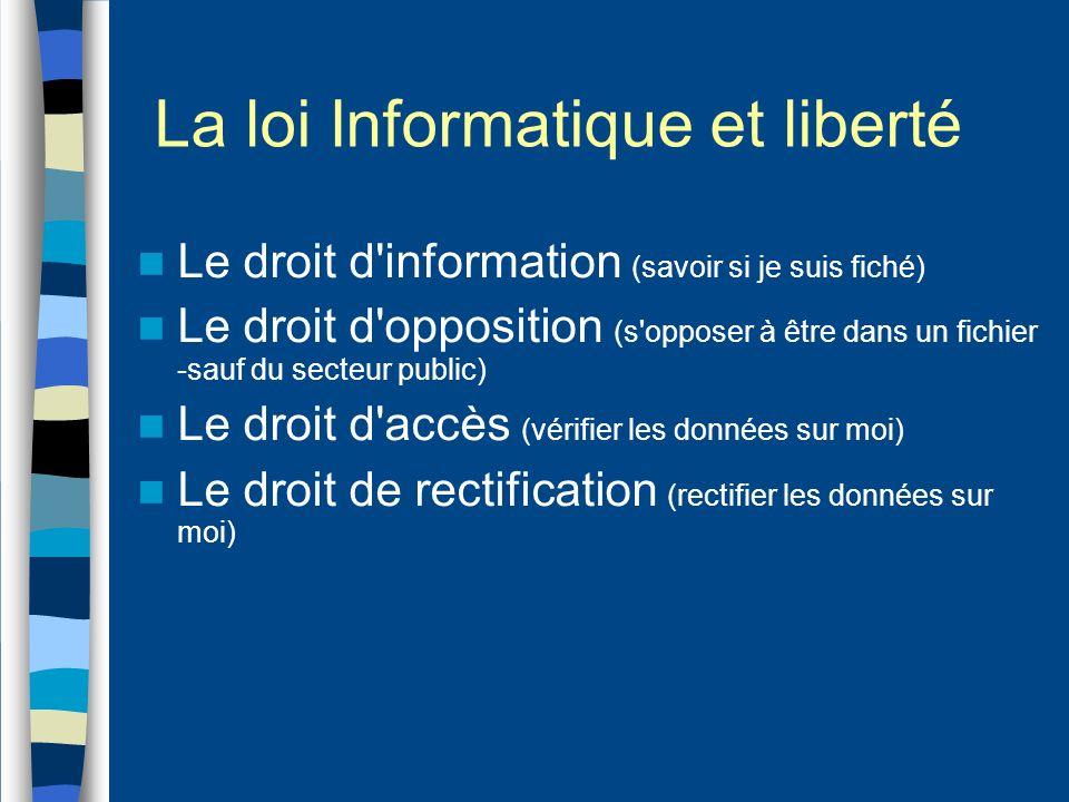 La loi Informatique et liberté