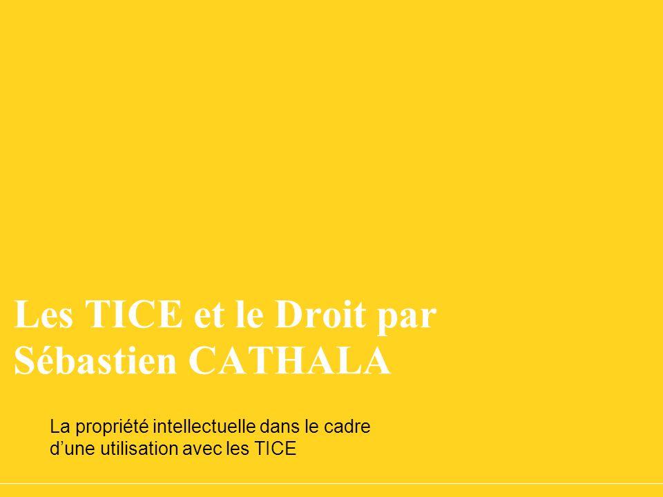Les TICE et le Droit par Sébastien CATHALA