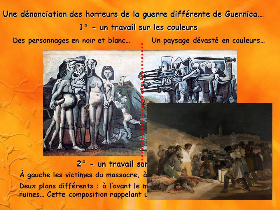 Une dénonciation des horreurs de la guerre différente de Guernica…