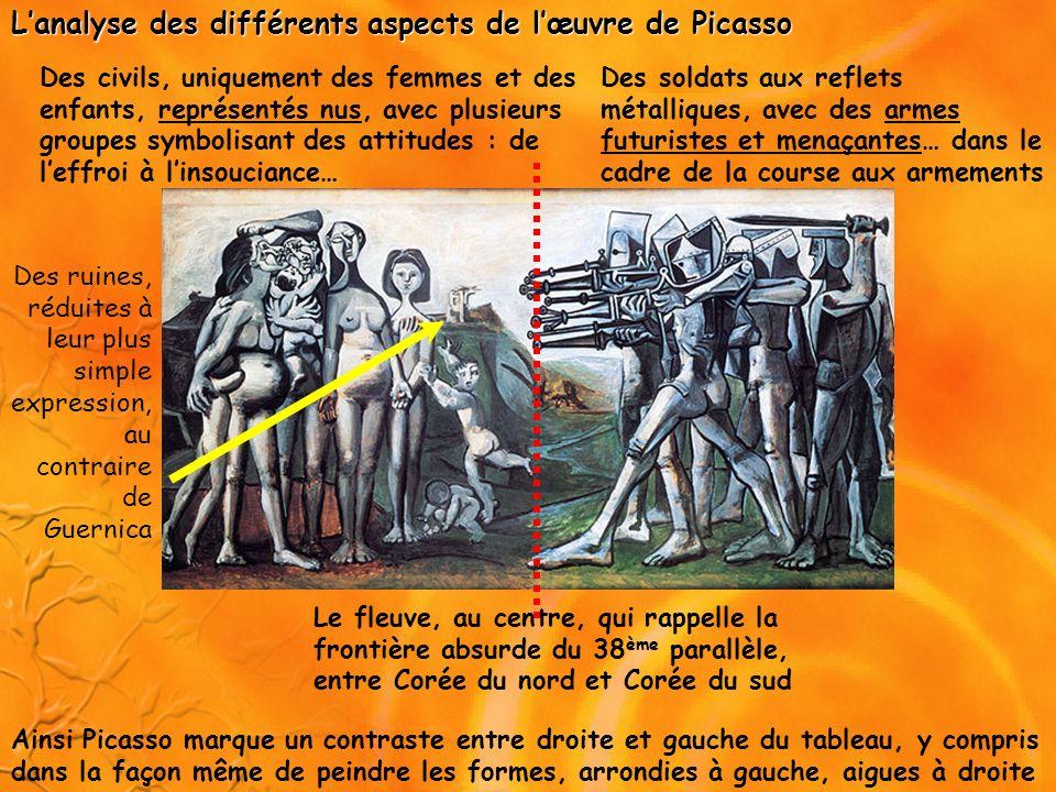 L'analyse des différents aspects de l'œuvre de Picasso