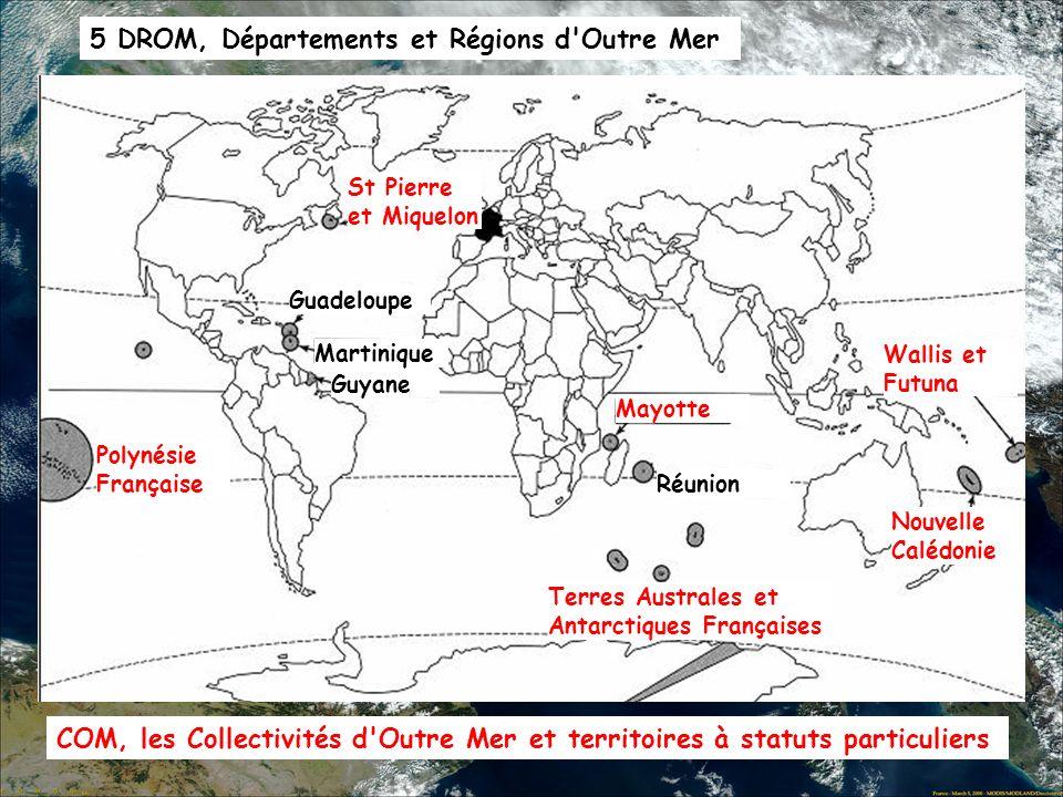 5 DROM, Départements et Régions d Outre Mer