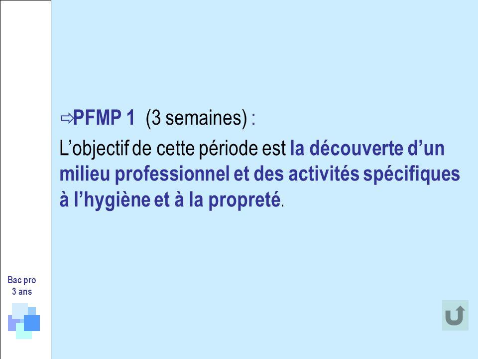 PFMP 1 (3 semaines) :
