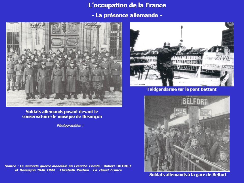 L'occupation de la France L'occupation de la France