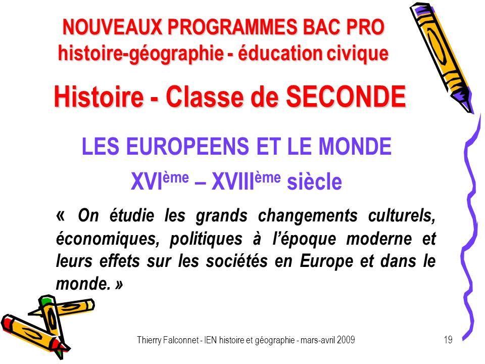 Histoire - Classe de SECONDE