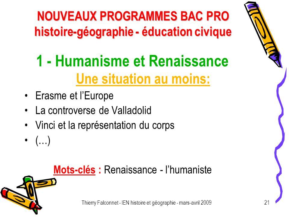 1 - Humanisme et Renaissance
