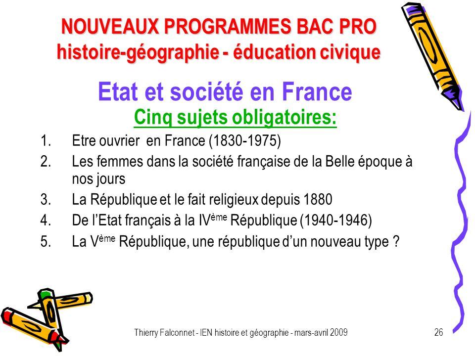 Etat et société en France