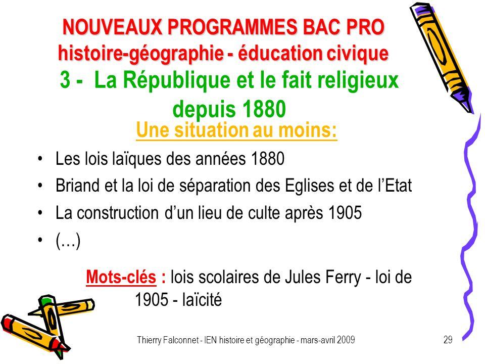 3 - La République et le fait religieux depuis 1880