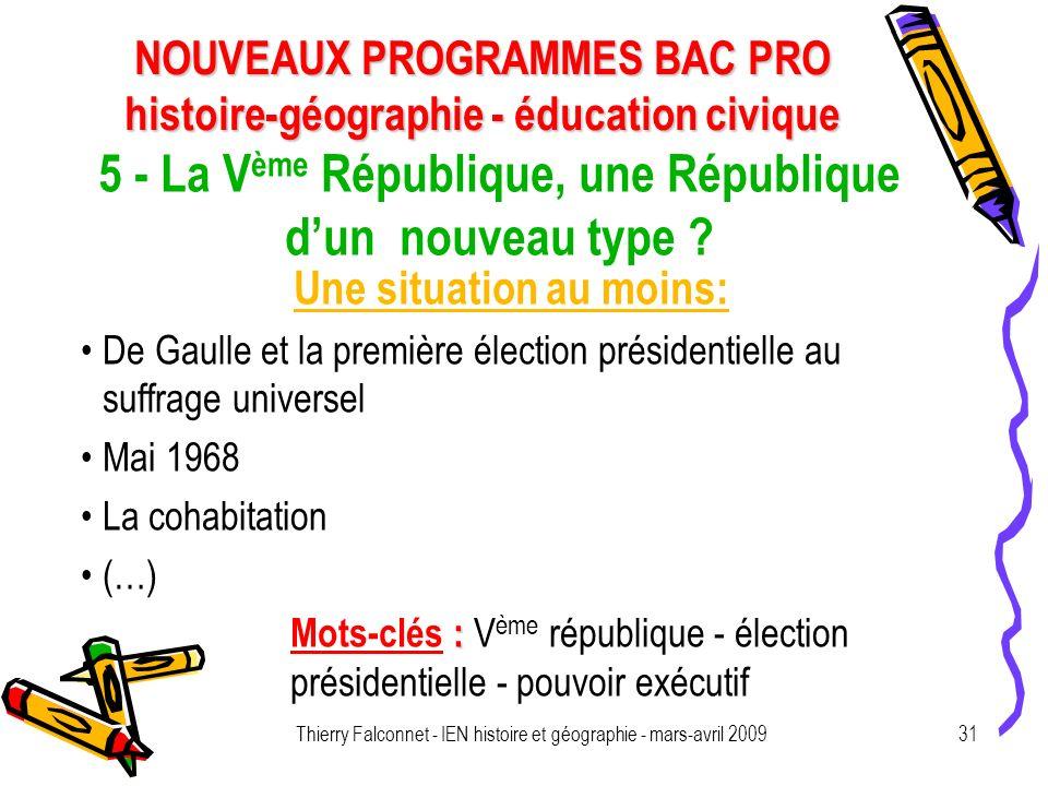 5 - La Vème République, une République d'un nouveau type
