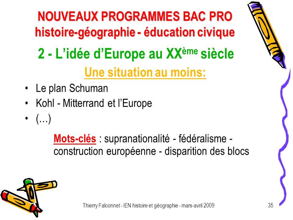 2 - L'idée d'Europe au XXème siècle
