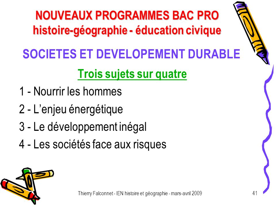 SOCIETES ET DEVELOPEMENT DURABLE