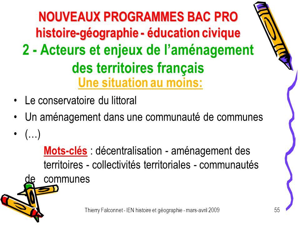 2 - Acteurs et enjeux de l'aménagement des territoires français