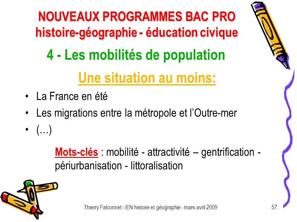4 - Les mobilités de population