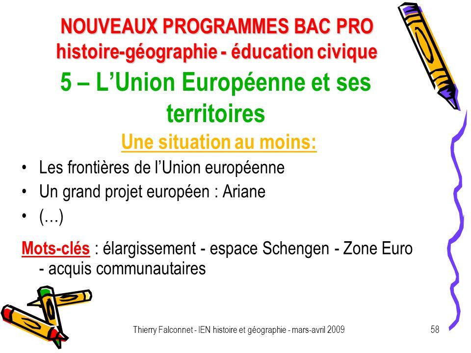 5 – L'Union Européenne et ses territoires
