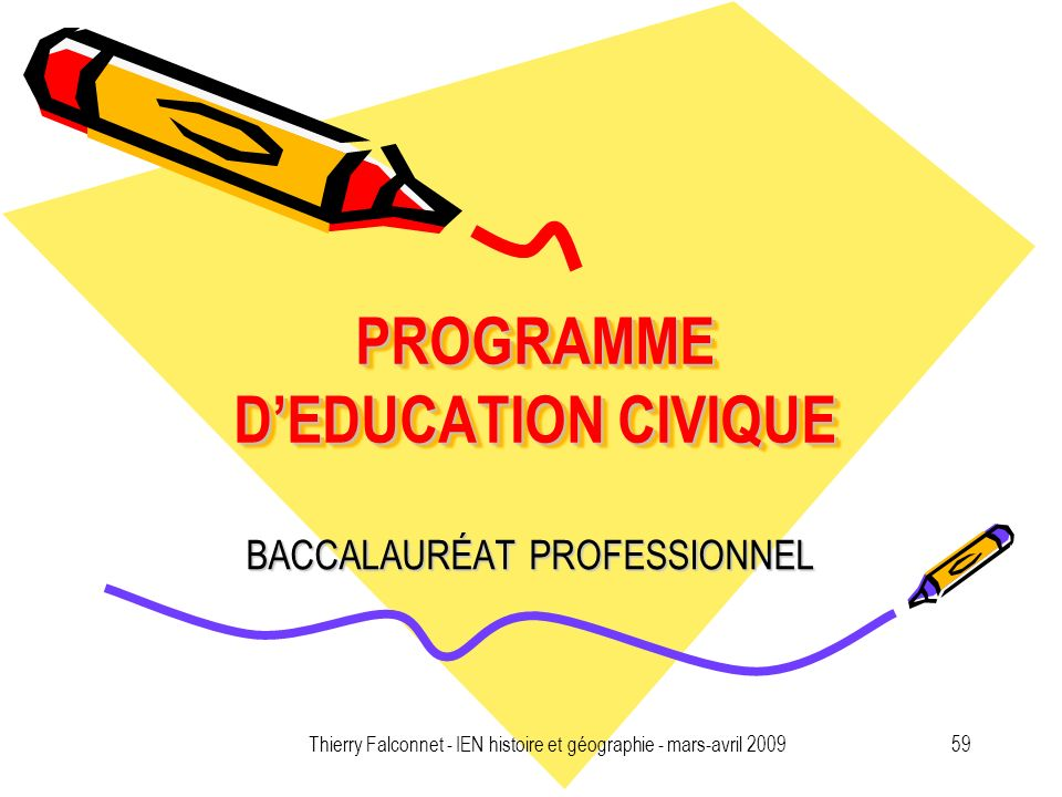 PROGRAMME D'EDUCATION CIVIQUE