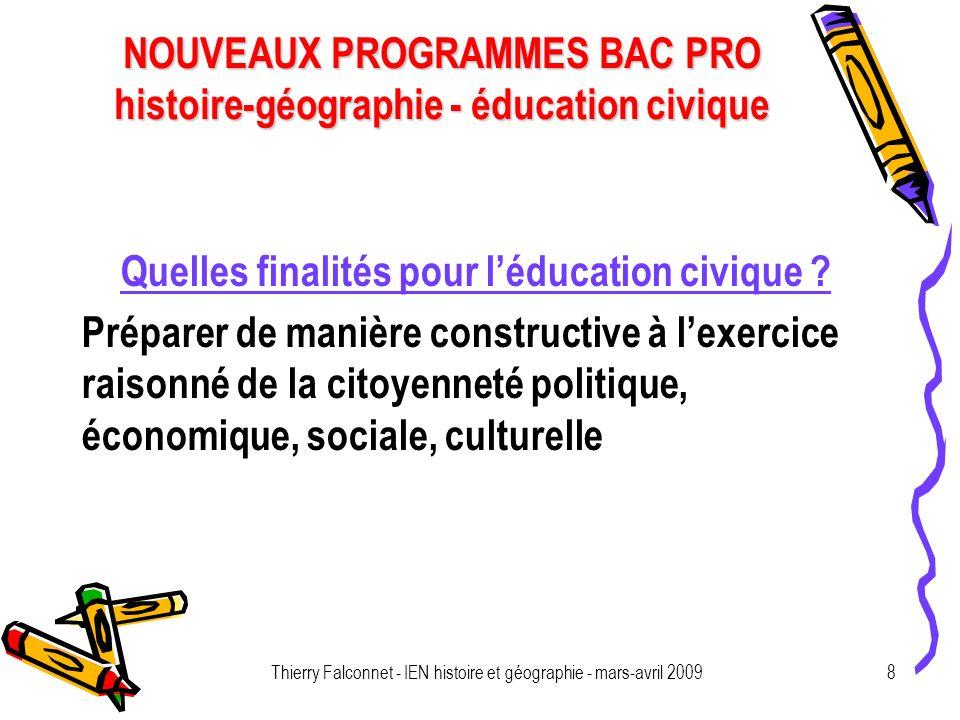 Quelles finalités pour l'éducation civique