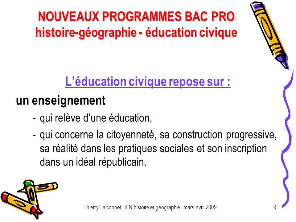 L'éducation civique repose sur :