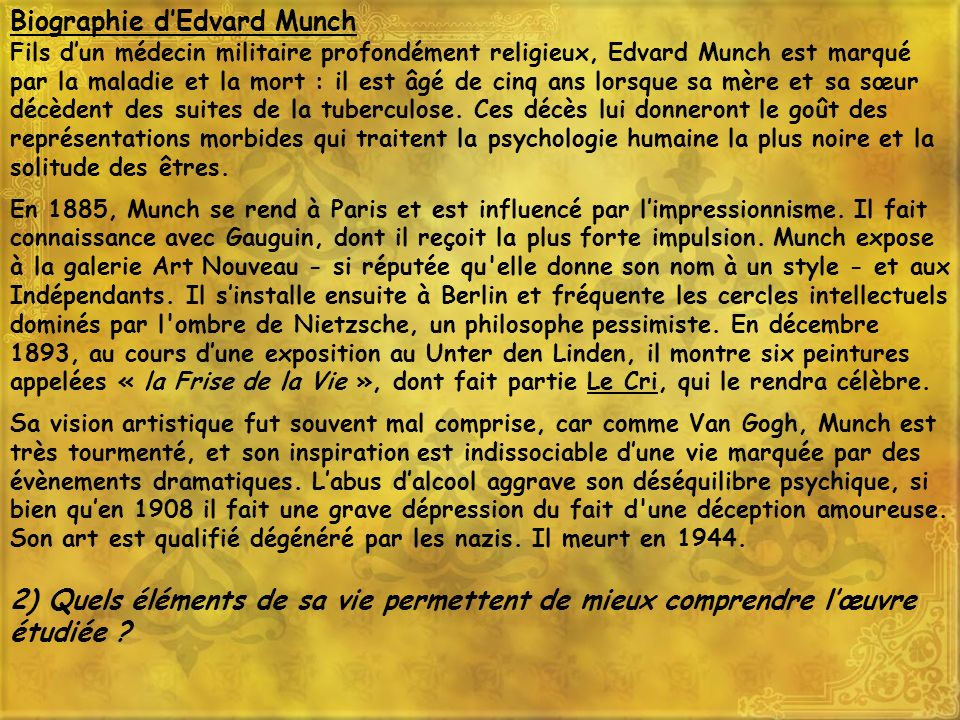 Biographie d'Edvard Munch