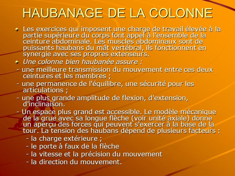 HAUBANAGE DE LA COLONNE