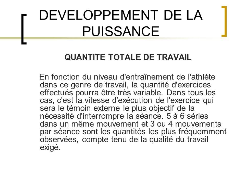 DEVELOPPEMENT DE LA PUISSANCE