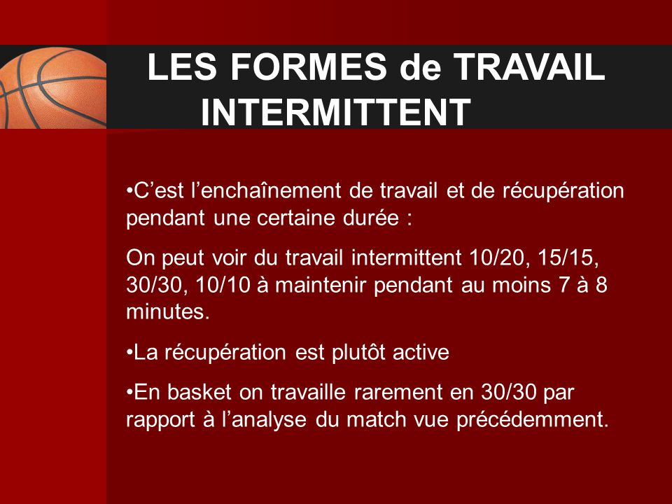 LES FORMES de TRAVAIL INTERMITTENT