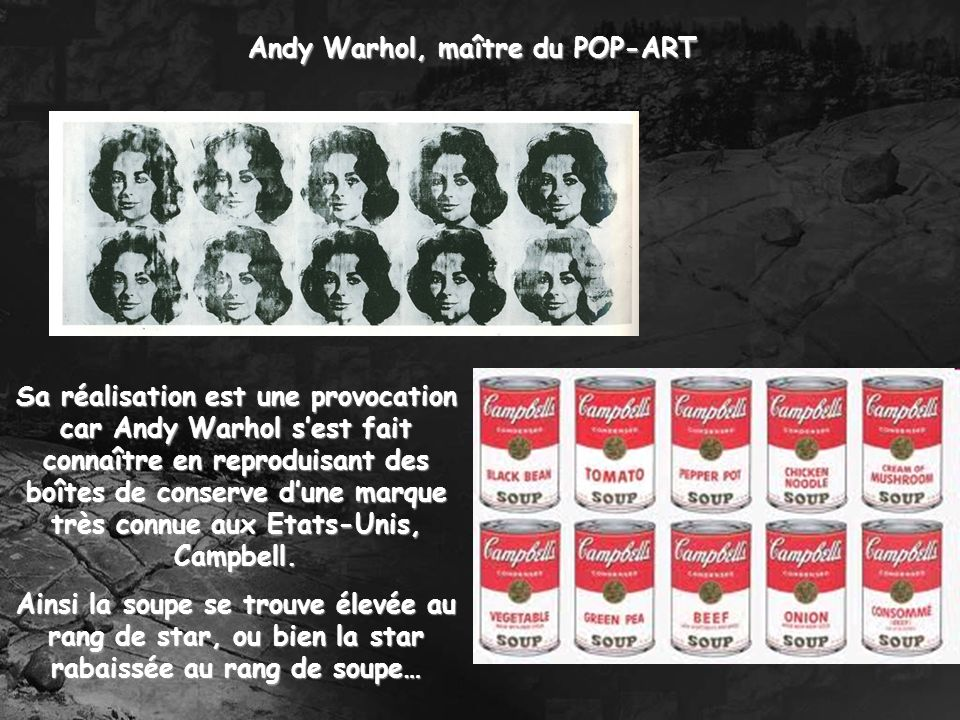 Andy Warhol, maître du POP-ART
