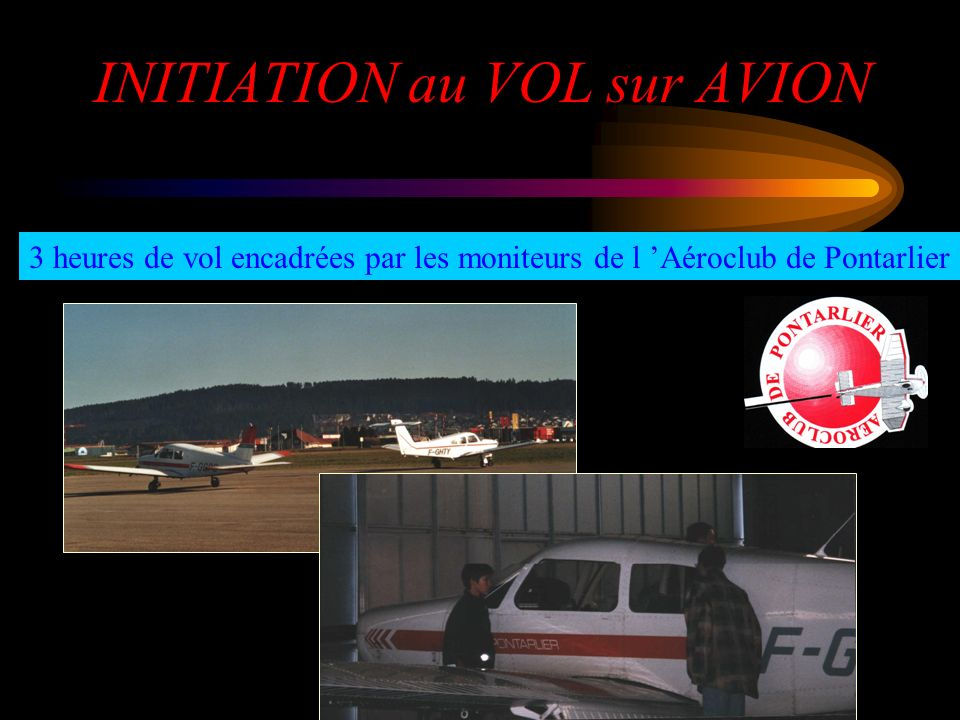 INITIATION au VOL sur AVION