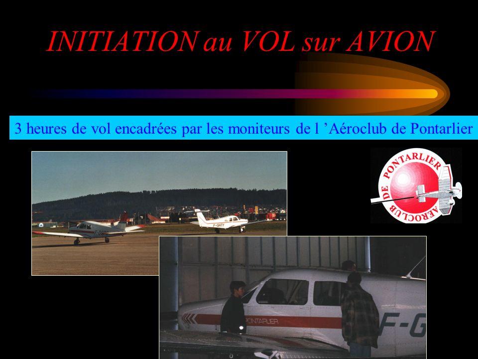 INITIATION au VOL sur AVION
