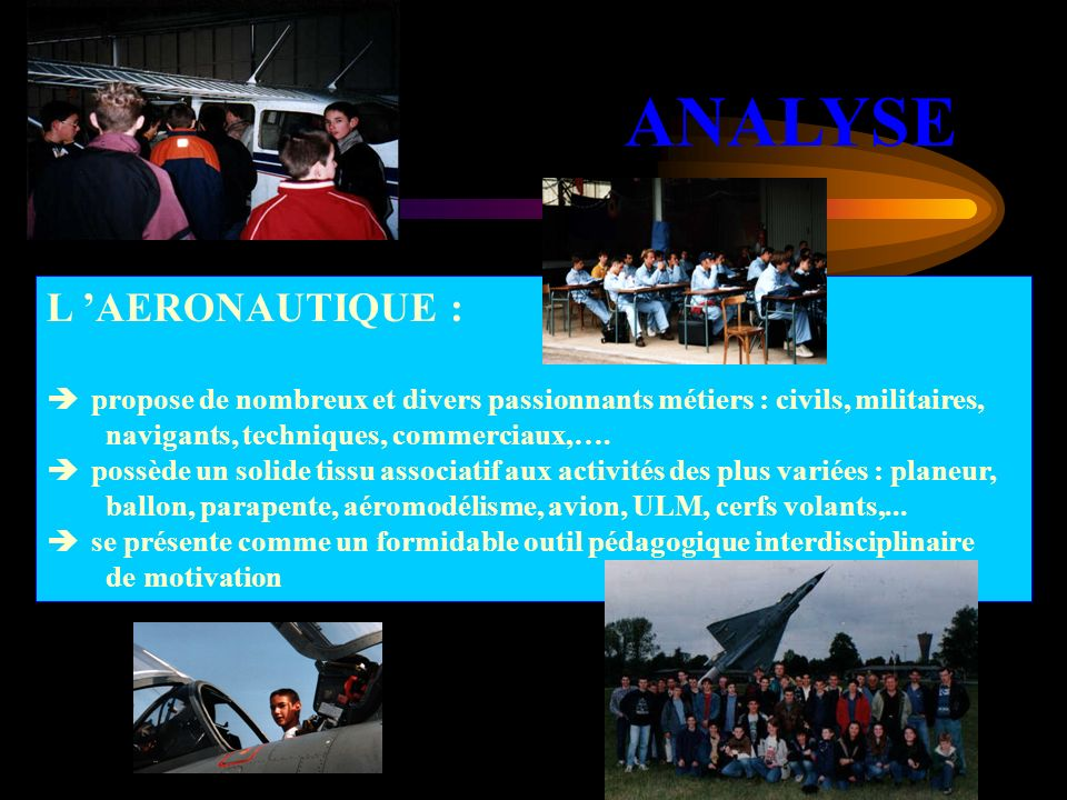 ANALYSE L 'AERONAUTIQUE :