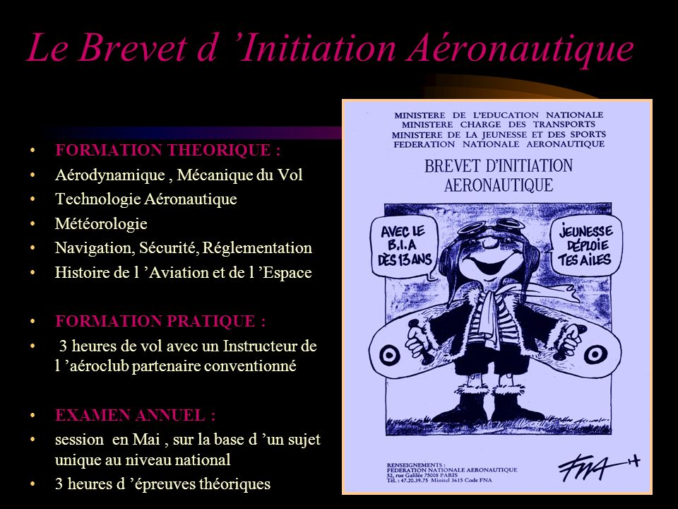 Le Brevet d 'Initiation Aéronautique