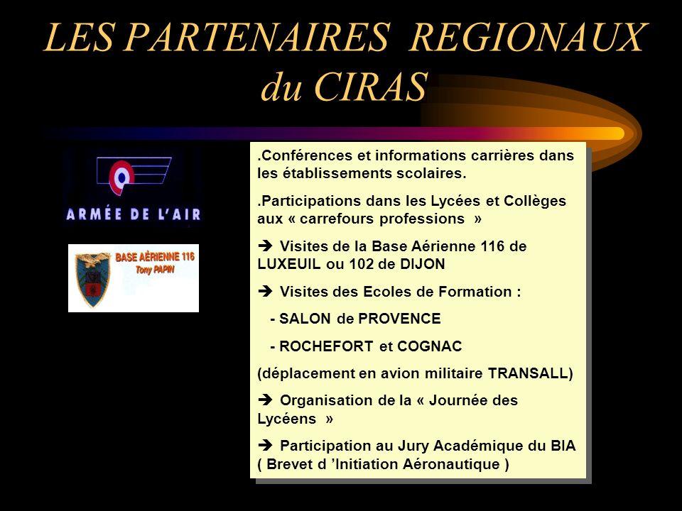 LES PARTENAIRES REGIONAUX du CIRAS