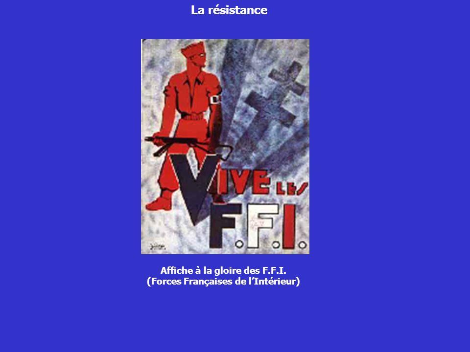 Affiche à la gloire des F.F.I. (Forces Françaises de l'Intérieur)