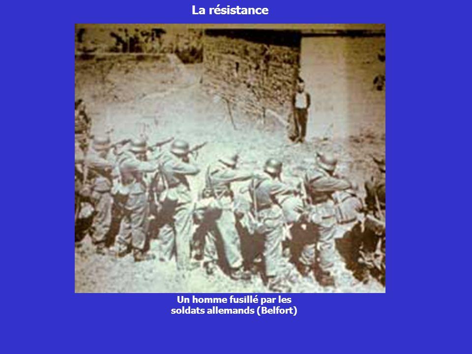 Un homme fusillé par les soldats allemands (Belfort)