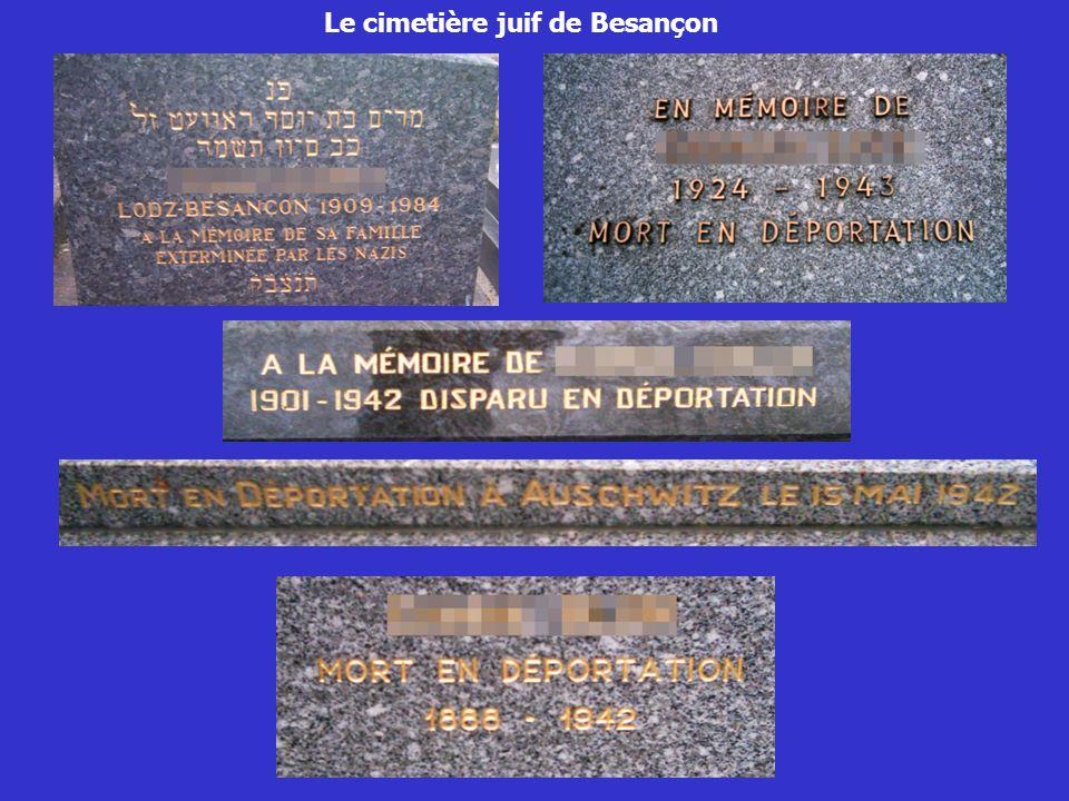 Le cimetière juif de Besançon