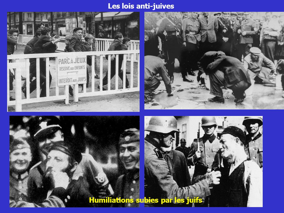 Humiliations subies par les juifs