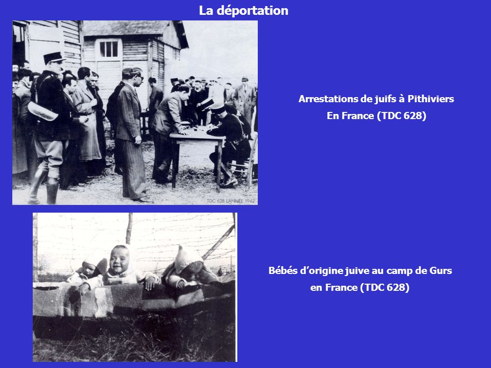 La déportation Arrestations de juifs à Pithiviers En France (TDC 628)
