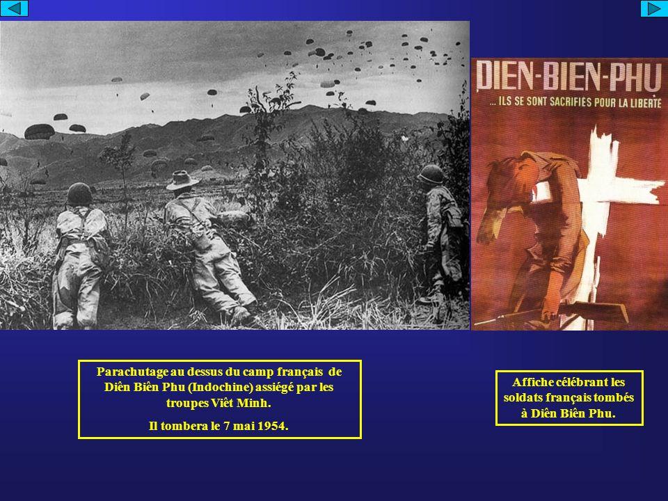 Affiche célébrant les soldats français tombés à Diên Biên Phu.
