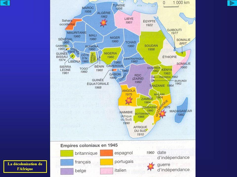 La décolonisation de l'Afrique