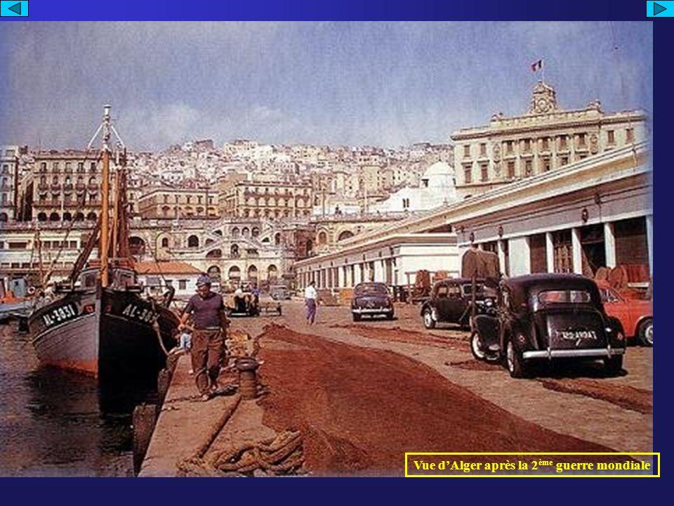 Vue d'Alger après la 2ème guerre mondiale