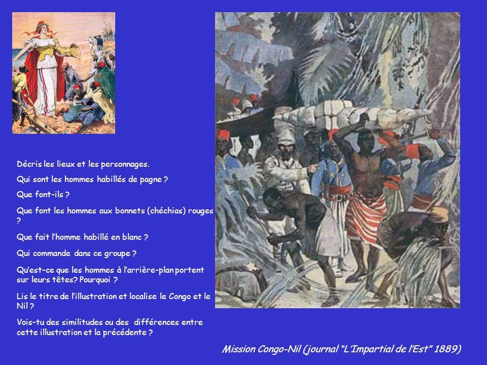 Mission Congo-Nil (journal L'Impartial de l'Est 1889)