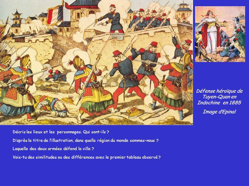 Défense héroïque de Tuyen-Quan en Indochine en 1885
