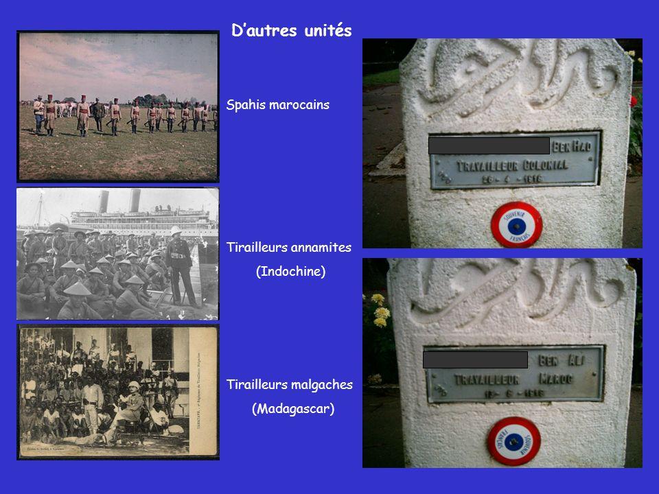 D'autres unités Spahis marocains Tirailleurs annamites (Indochine)