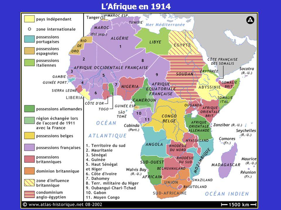 L'Afrique en 1914