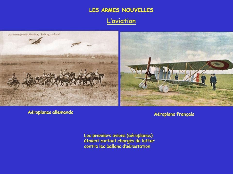 L'aviation LES ARMES NOUVELLES Aéroplanes allemands Aéroplane français