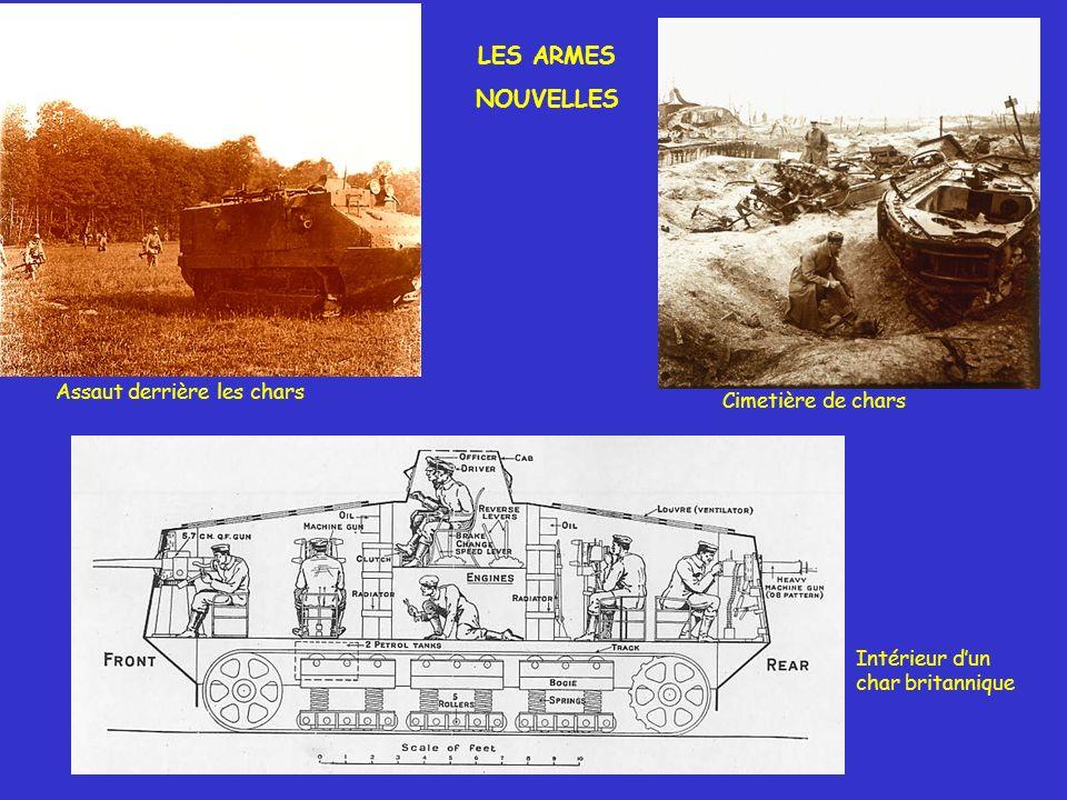 LES ARMES NOUVELLES Assaut derrière les chars Cimetière de chars