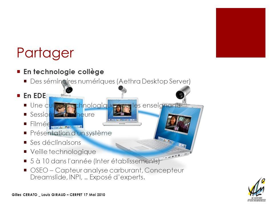 Partager En technologie collège En EDE
