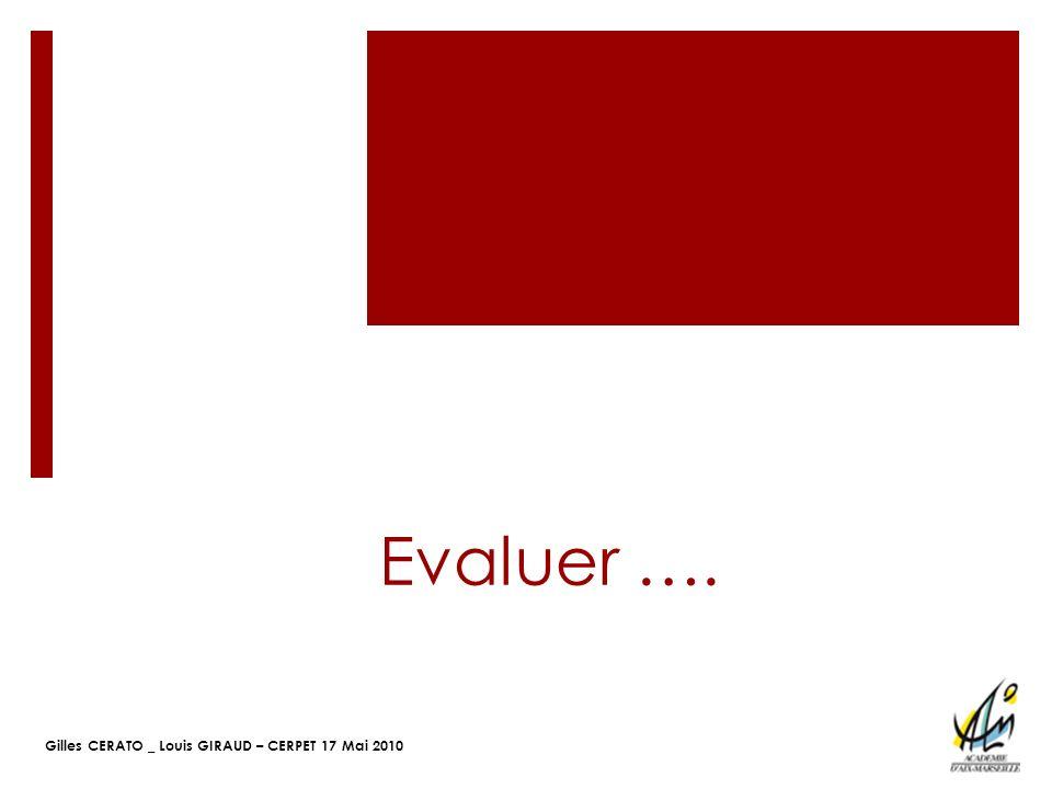 Evaluer ….