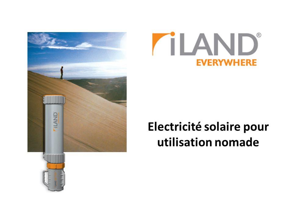 Electricité solaire pour utilisation nomade